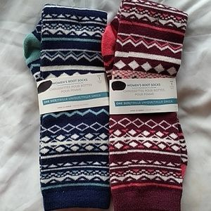 Bundle of Two Old Navy  Boots Socks